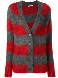 Alexander Wang T By Textured Striped Cardigan Grey
