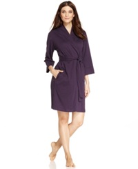 Jockey Cotton Interlock Robe Eggplant