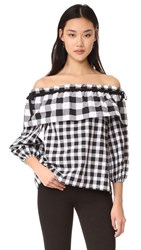 Parker Jenay Blouse Checkered