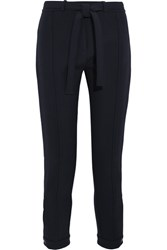Topshop Unique Fenton Stretch Twill Slim Leg Pants Navy