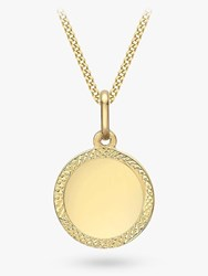 Ibb Personalised 9Ct Gold Disc Pendant Necklace Gold