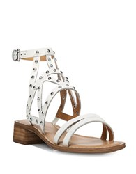 Franco Sarto Alyssa Studded Sandals White