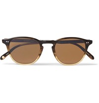 Garrett Leight California Optical Hampton 46 Round Frame Acetate Sunglasses Brown