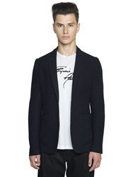 Emporio Armani Stretch Cotton Viscose Jacquard Jacket