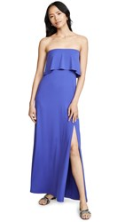 Susana Monaco Strapless Overlay Slit Dress Hyacinth
