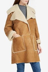 Mih Jeans Women S Fairport Shearling Coat Boutique1 Bronze