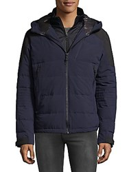 Hawke And Co Double Wall Puffer Coat Navy