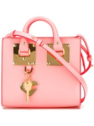 Sophie Hulme Mini 'Albion' Crossbody Bag Pink And Purple