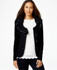Charter Club Ruffle Detail Sweater Blazer Only At Macy's Deep Black