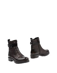 Mally Ankle Boots Dark Brown