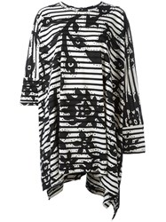 Vivienne Westwood Anglomania Striped Oversized T Shirt Black