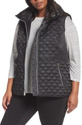 Andrew Marc New York Plus Size Women's Caitlin Quilted Vest Black