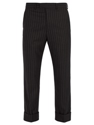 Gucci Striped Wool Trousers Grey