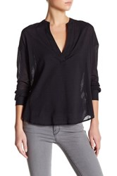 James Perse Stretch Pullover Tunic Black