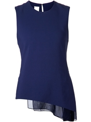 Reed Krakoff Side Pleated Tank Top Blue