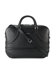 Alexander Mcqueen Harness Briefcase Men Leather One Size Black