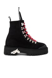 Off White Hiking Mountain Boots Black