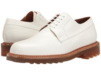 Robert Clergerie Doc Oxford White Men's Lace Up Wing Tip Shoes