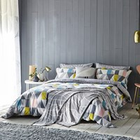 Scion Nuevo Duvet Cover Blush And Charcoal Multi