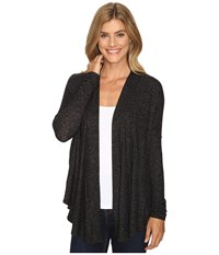 B Collection By Bobeau Syden Relaxed Cardi Charcoal Grey Women's Sweater Gray