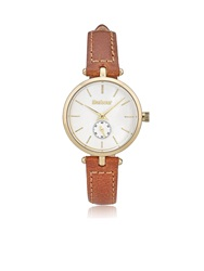 Barbour Lisle Leather Strap Watch Tan Tan