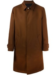 Ami Alexandre Mattiussi Single Breasted Coat Brown