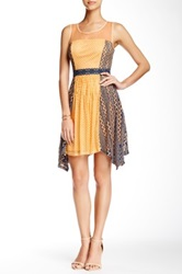 Ryu Sheer Yoke Sleeveless Dress Yellow