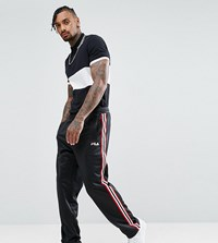 Fila Black Line Poly Tricot Joggers With Side Tape Black