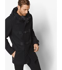 Wool Blend Sport Toggle Coat Black