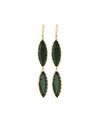 Lana 14K Midnight Duo Marquise Drop Earrings Green