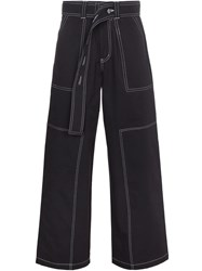 Liam Hodges Belted Work Trousers Blue