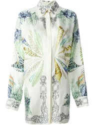 Versace Collection Shell And Coral Print Shirt Nude And Neutrals