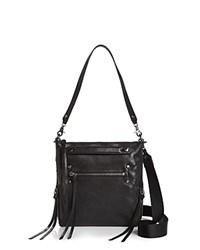 Botkier Logan Mini Leather Hobo Black Gunmetal