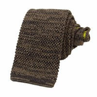 40 Colori Charcoal Melange Knitted Tie Grey