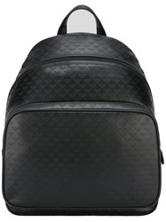 Emporio Armani Embossed Logo Pattern Backpack Black