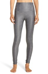 Onzie Women's High Rise Leggings Charcoal Snake