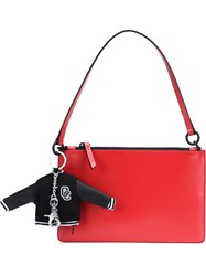 Opening Ceremony Charm Zip Up Tote Bag Red