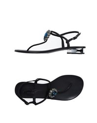 Lola Cruz Footwear Thong Sandals Women Black