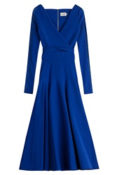 Preen By Thornton Bregazzi Midi Dress With Cut Out Blue