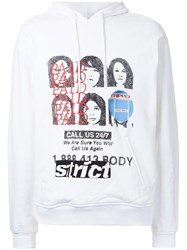 Alexander Wang Collaged Artwork Hoodie White