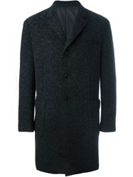 Z Zegna Single Breasted Coat Grey