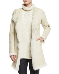 Theory Jathan Hollice Fur Lined Jacket