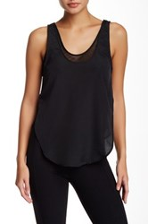 Madison Marcus Mesh Lined Tank Black