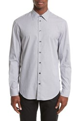 Armani Collezioni Regular Fit Check Sport Shirt Checked Black