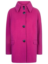 Windsmoor Wool Collar Coat Fuchsia