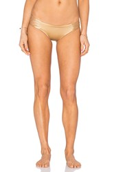 Siempre Golden La Jolla Bikini Bottom Metallic Gold