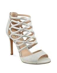 Vince Camuto Krisi Leather Dress Sandals Silver