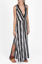Missoni Zigzag Tie Sides Dress Black