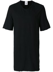 Lost And Found Rooms Piquet T Shirt Cotton Linen Flax Black