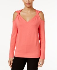 Alfani Cold Shoulder Twist Sweater Only At Macy's Tropical Reef